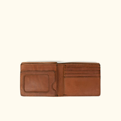 Denver Leather Billfold Wallet | Autumn Brown