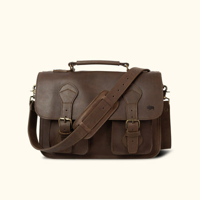 Denver Leather Briefcase | Dark Briar