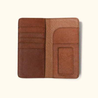 Denver Leather Checkbook Wallet | Autumn Brown