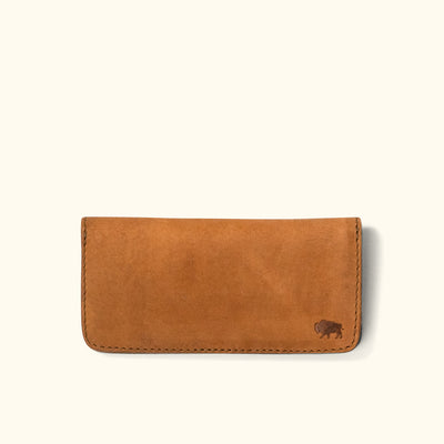 Denver Leather Checkbook Wallet | Sienna Brown