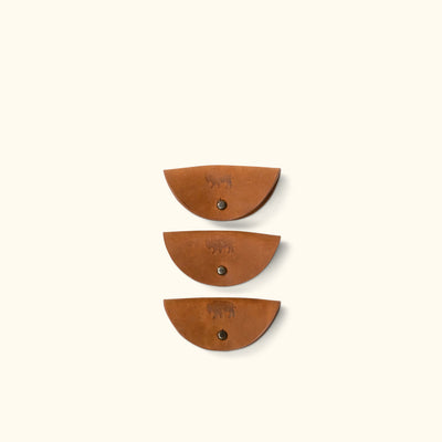 Denver Leather Cord Taco - Cord Holder 3-Pack | Sienna Brown