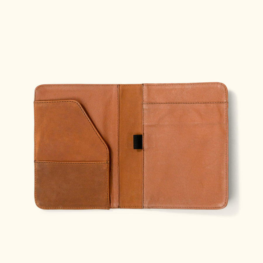 Denver Leather Mini Legal Pad Holder | Sienna Brown