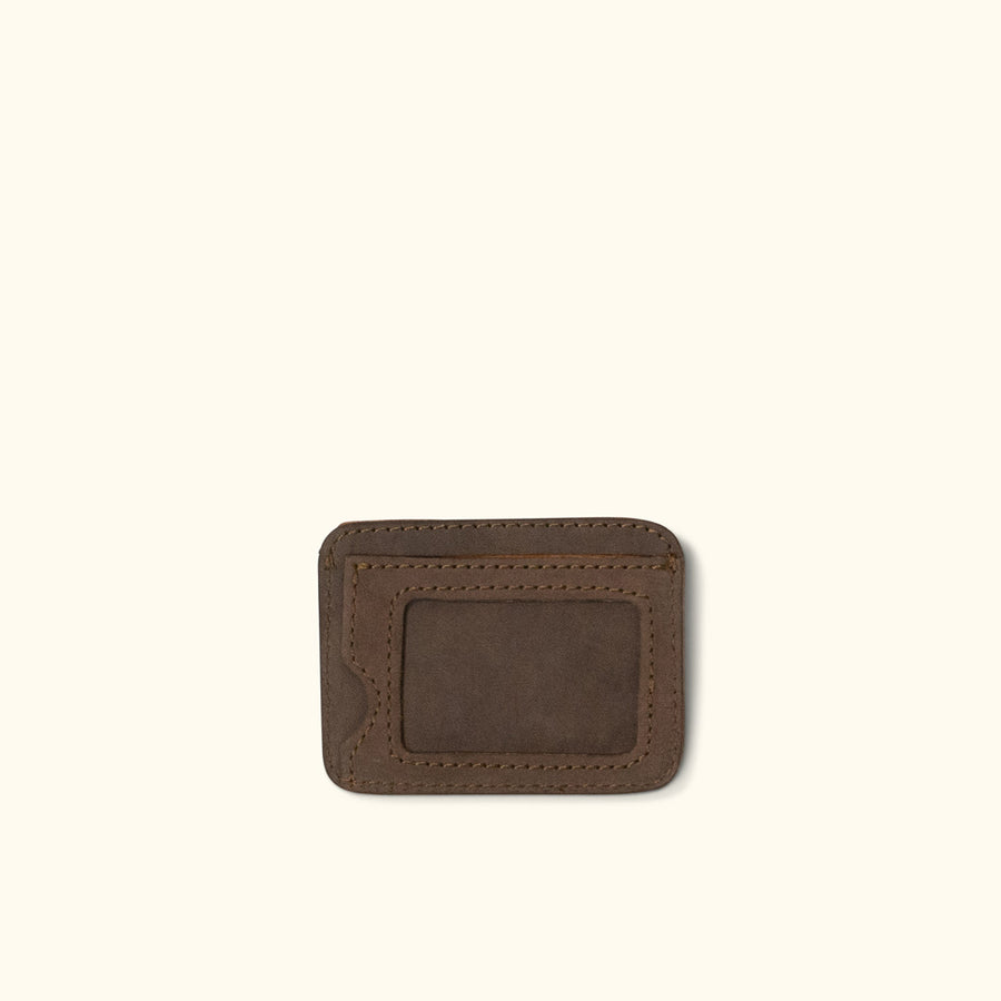 Denver Leather Slim ID Wallet | Dark Walnut