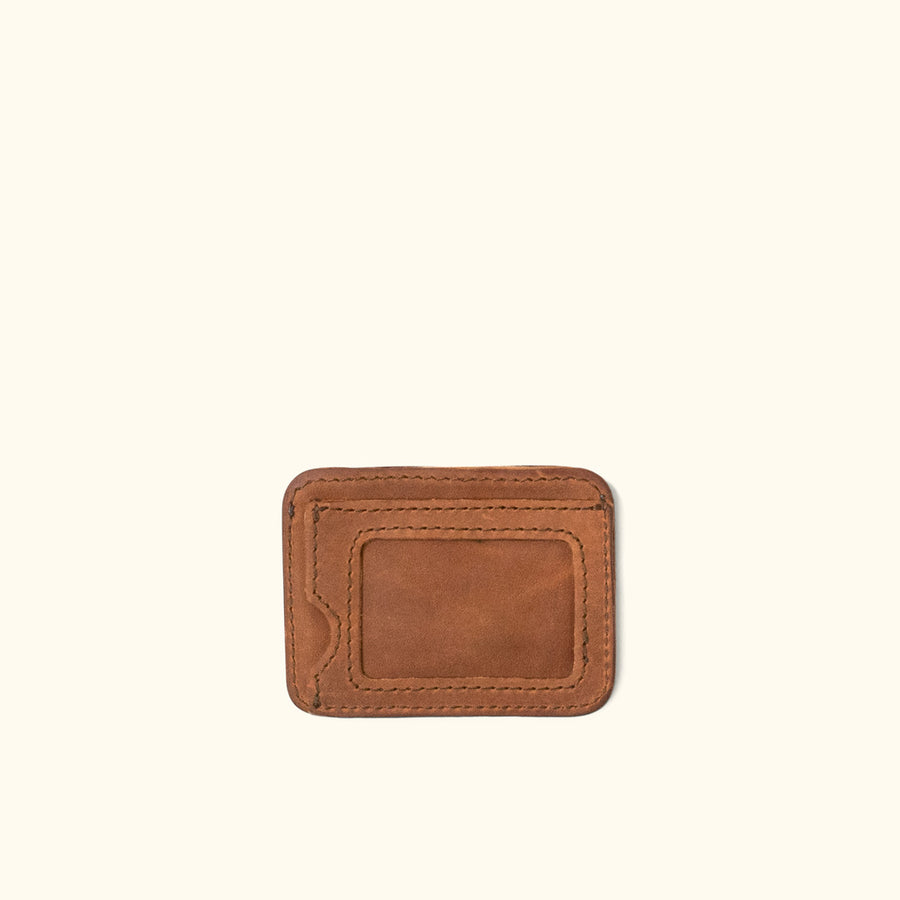 Denver Leather Slim ID Wallet | Sienna Brown