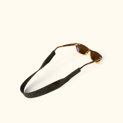 Denver Leather Sunglasses Strap | Dark Walnut