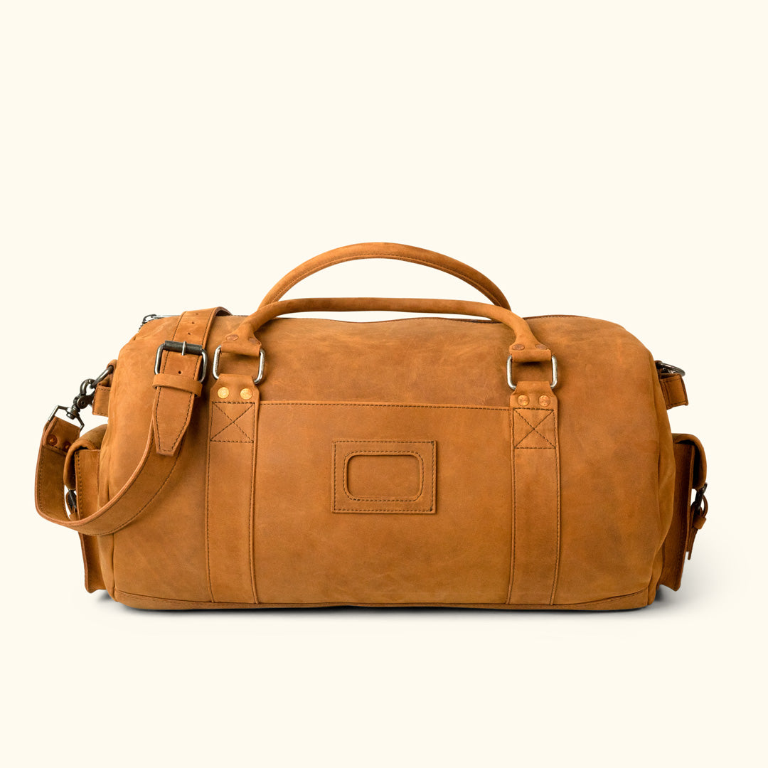 19a2d528f563 Denver Leather Travel Duffle Bag | Sienna Brown
