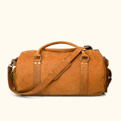 Denver Leather Travel Duffle Bag | Sienna Brown