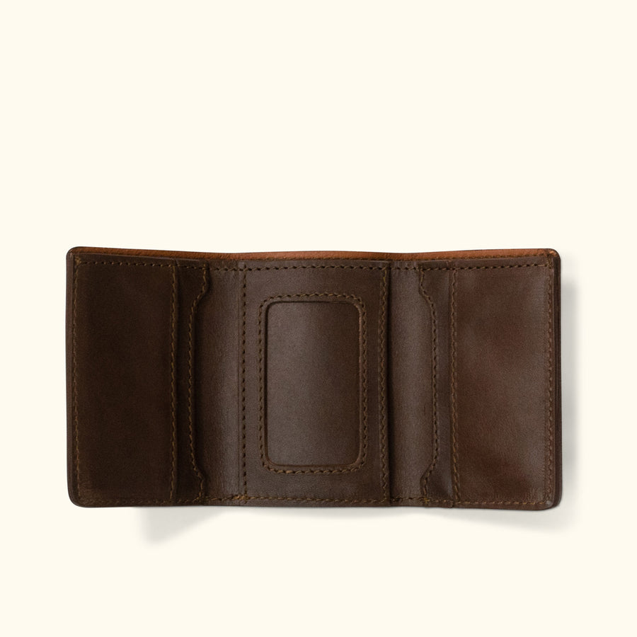 Denver Leather Trifold Wallet | Dark Briar