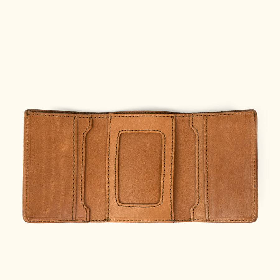 Denver Leather Trifold Wallet | Old Gold
