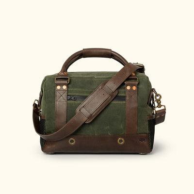 Elkton Waxed Canvas Soft Cooler | Green w/ Dark Briar Leather