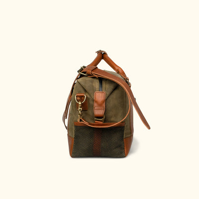 Elkton Waxed Canvas Soft Cooler - Brown w/ Sienna Brown Leather