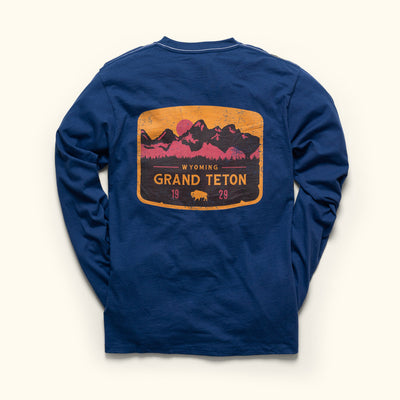Vintage Grand Teton National Park Long Sleeve Shirt Buffalo Jackson