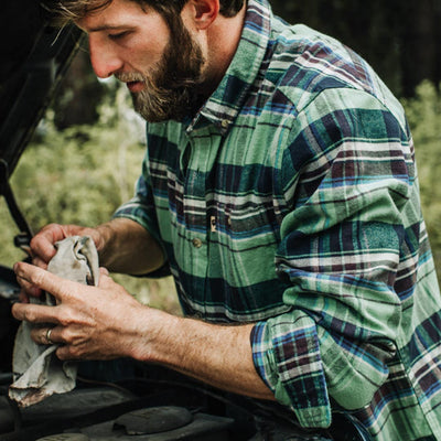 Fairbanks Flannel | Green Briar hover