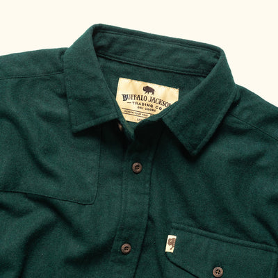Men's Tough Wool blend button down shirt hover