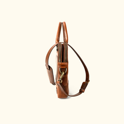 Rugged Leather Attache Bag | Elderwood side