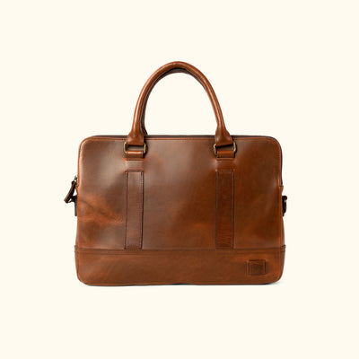 Men's Vintage Leather Attache | Elderwood front