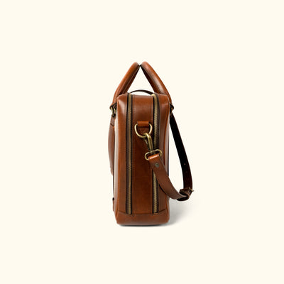 Men's Best Leather Briefcase bag | Elderwood side