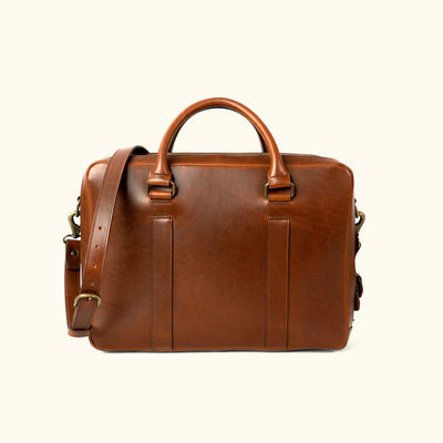 Vintage Leather Briefcase | Elderwood back