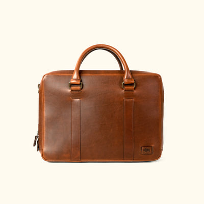 Men's Modern Leather Briefcase Bag | Elderwood front