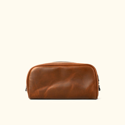 Vintage Leather Dopp Kit | Elderwood back