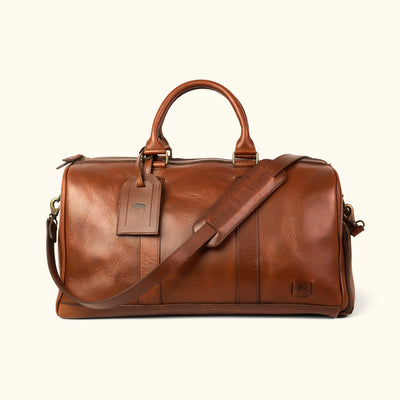 Vintage Leather Duffle | Elderwood Front