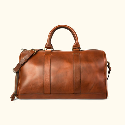 Sleek Leather Duffle | Elderwood back