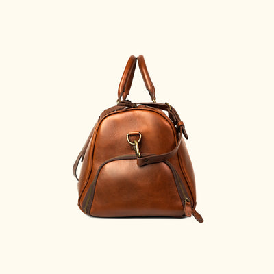 Men's Classic Leather Duffle | Elderwood side