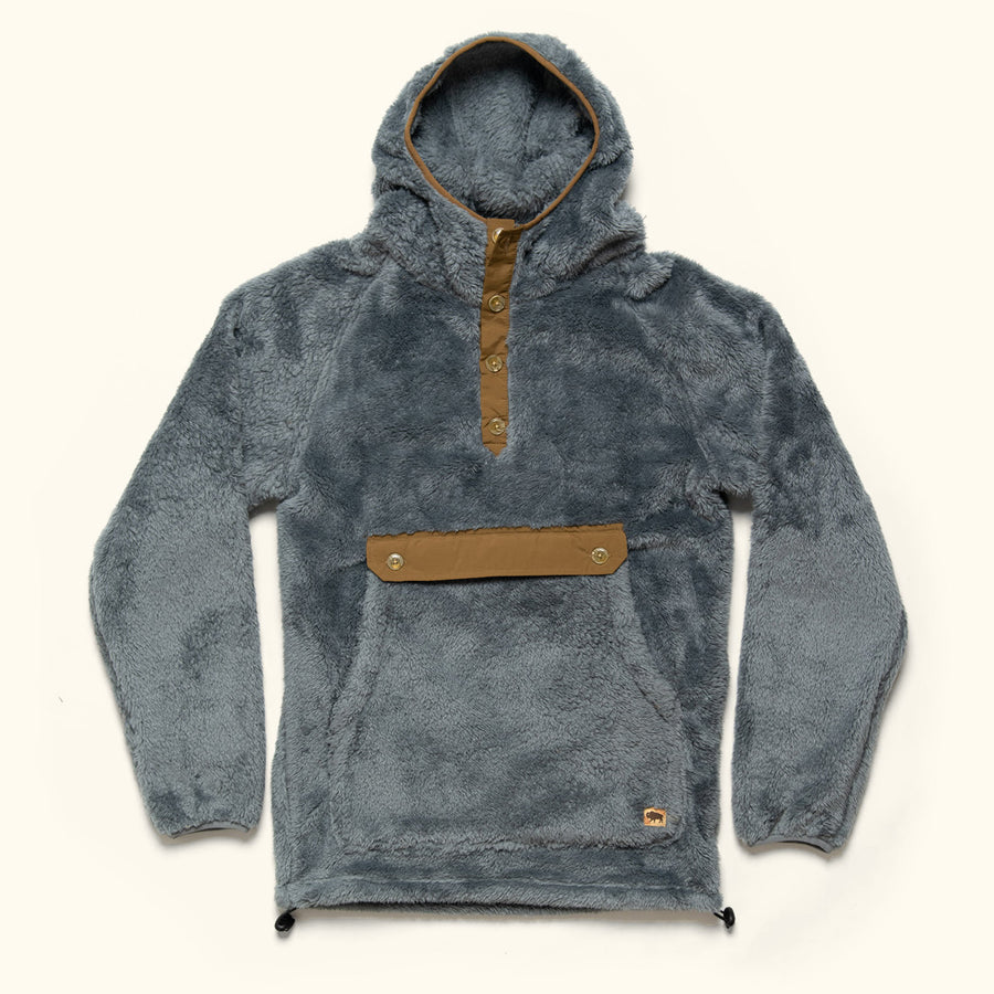Men's Vintage Fleece Hoody Pullover Kodiak