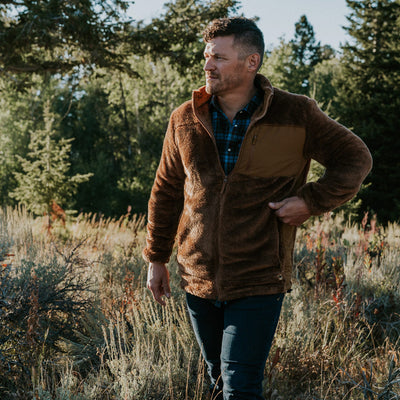 Rugged Fleece Jacket Grizzly Brown