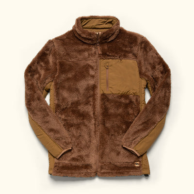 Men's Vintage Fleece Jacket Grizzly Brown