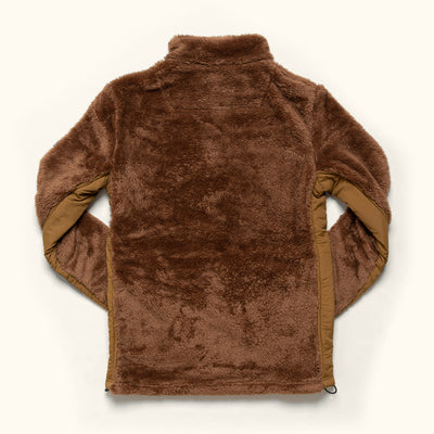 Mens Kodiak Grizzly Brown Fleece Jacket