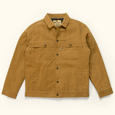 Men's Rugged Waxed Canvas Trucker Jacket