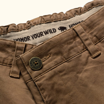 Mens Shorts with Honor Your Wild on Interior Elastic Band