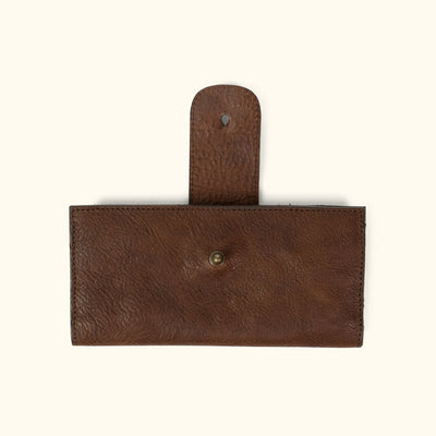 Madison Leather Checkbook Wallet | Dark Hazelnut