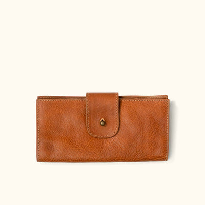 Madison Leather Checkbook Wallet | Saddle Tan |