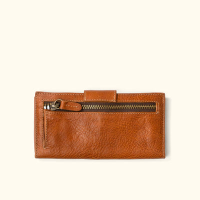 Madison Leather Checkbook Wallet | Saddle Tan