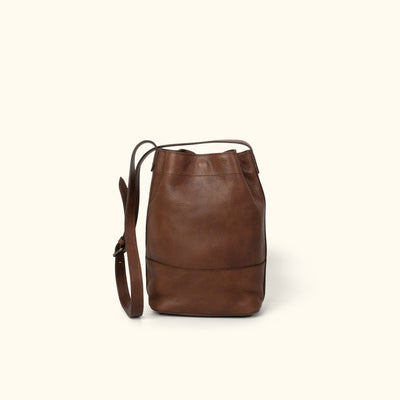 Madison Leather Bucket Bag | Dark Hazelnut