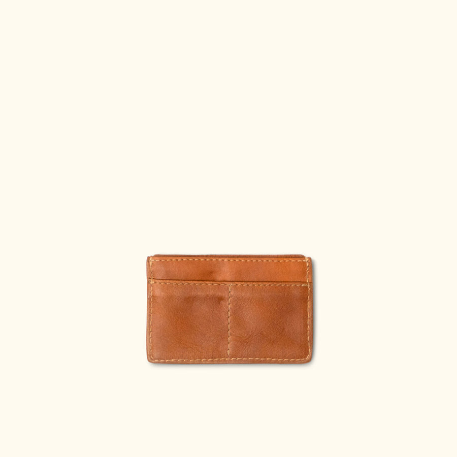 Madison Leather Slim Card Case | Saddle Tan