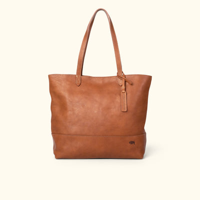 Madison Leather Tote | Saddle Tan