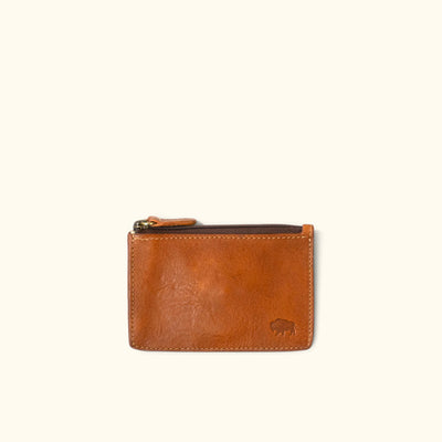 Madison Leather Zipper Pouch Wallet | Saddle Tan