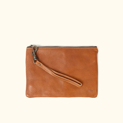 Madison Wristlet Clutch | Saddle Tan