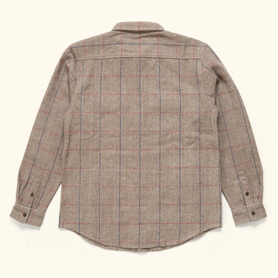 Mens Vintage Wool shirt jac herringbone