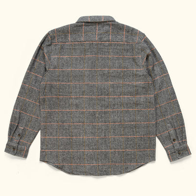Rugged wool shirt jac with Herringbone weave