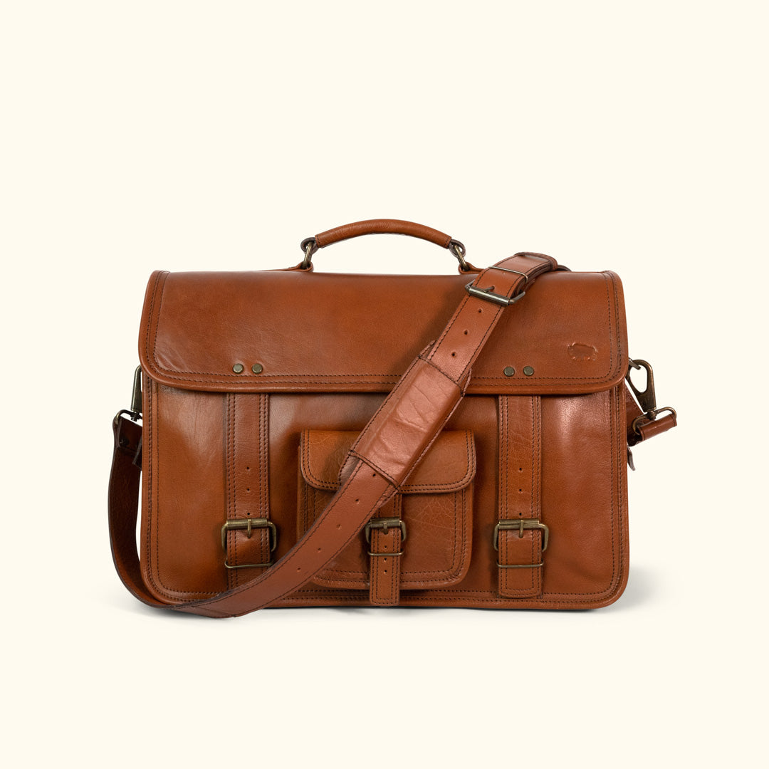 725332d17c Leather Briefcase Bag - Mens Laptop Bag | Buffalo Jackson