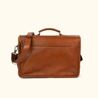 Classic Leather Briefcase Bag | Amber back