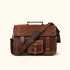 Roosevelt Buffalo Leather Briefcase Bag | Dark Oak