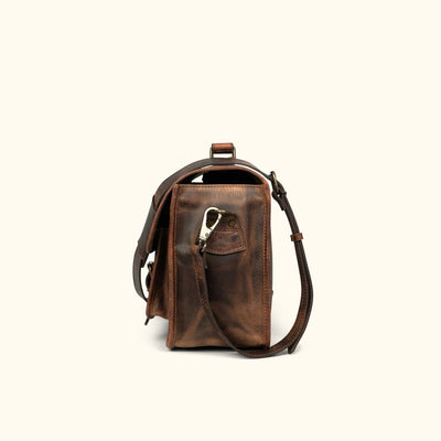 Quality Leather Camera Bag | Dark Oak side