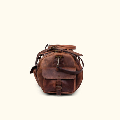 Rugged Leather Duffle Bag | Dark Oak side