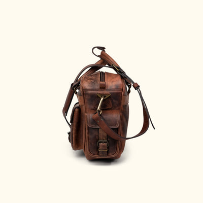 Travel leather pilot bag