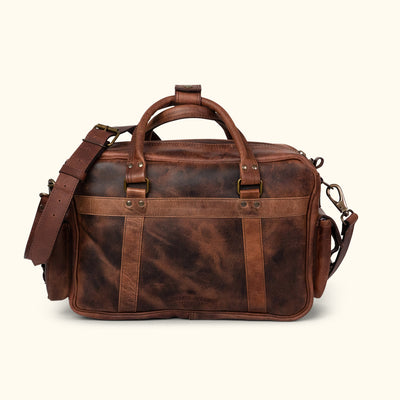 Buffalo Leather Pilot Bag | Dark Oak back